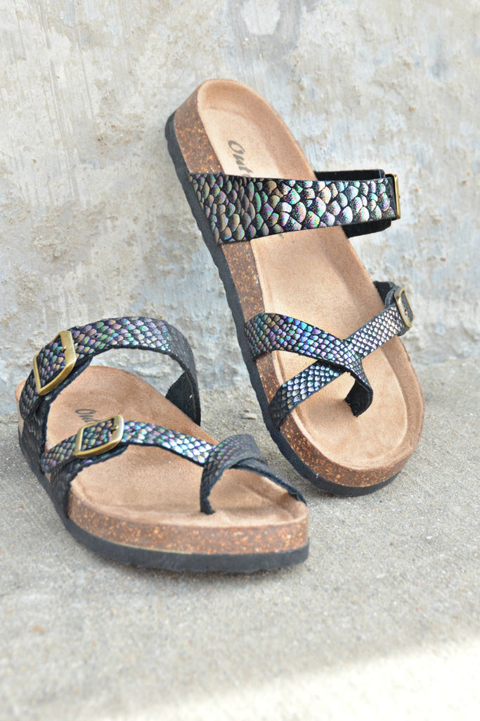 Out Of Time Sandals - Mermaid