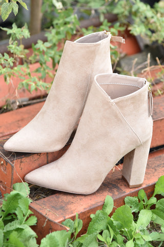Play It Safe Bootie - Grey