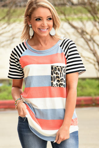 Lead The Way Striped Top