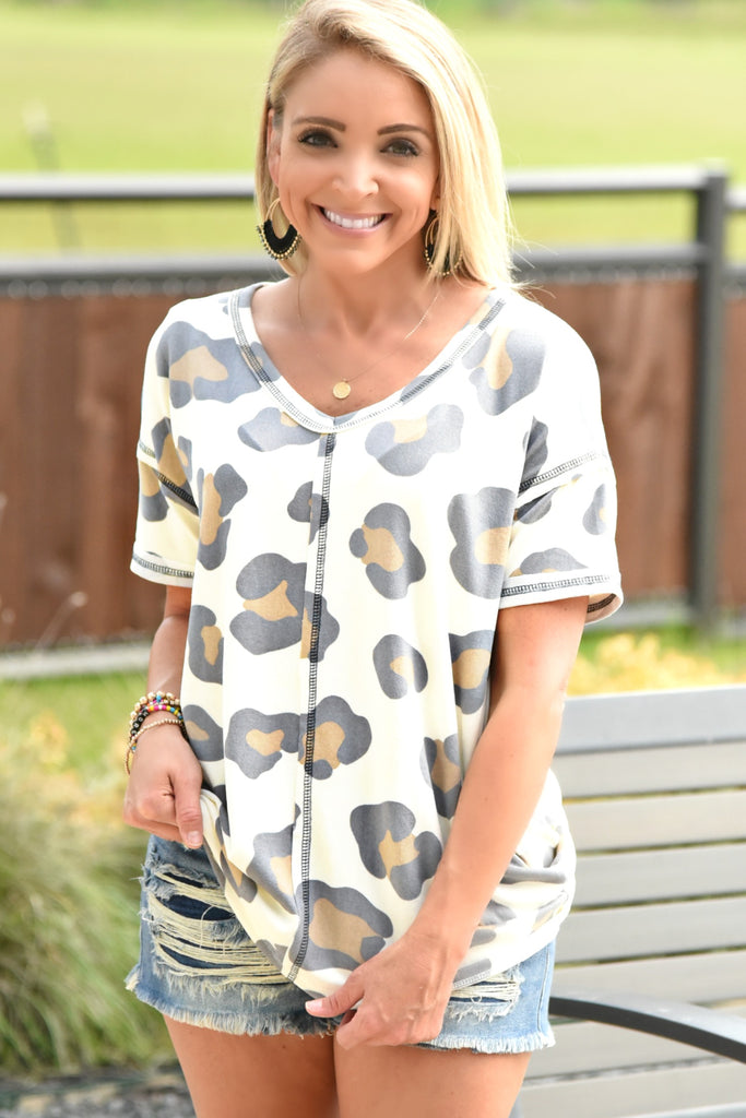 Sunshine Beauty Top - Leopard