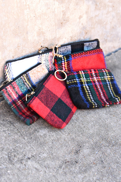Plaid To See You Coin Pouch