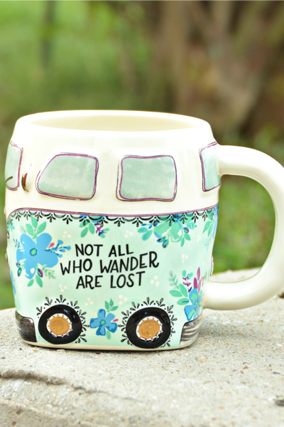 Natural Life Folk Mug - Blue Van