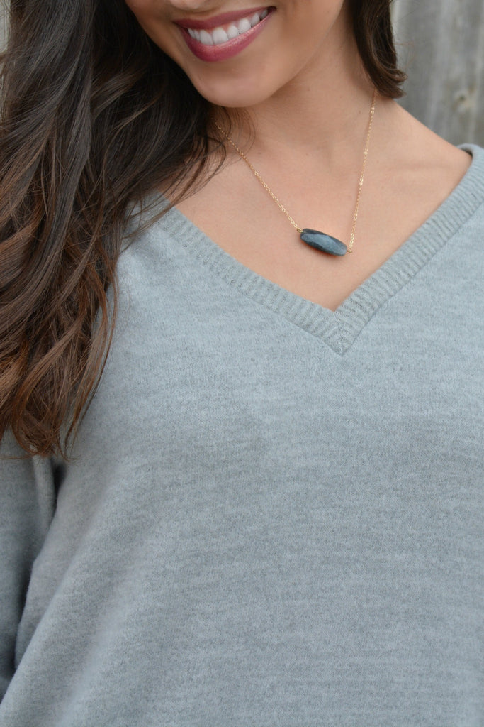 Missing Piece Necklace - Charcoal