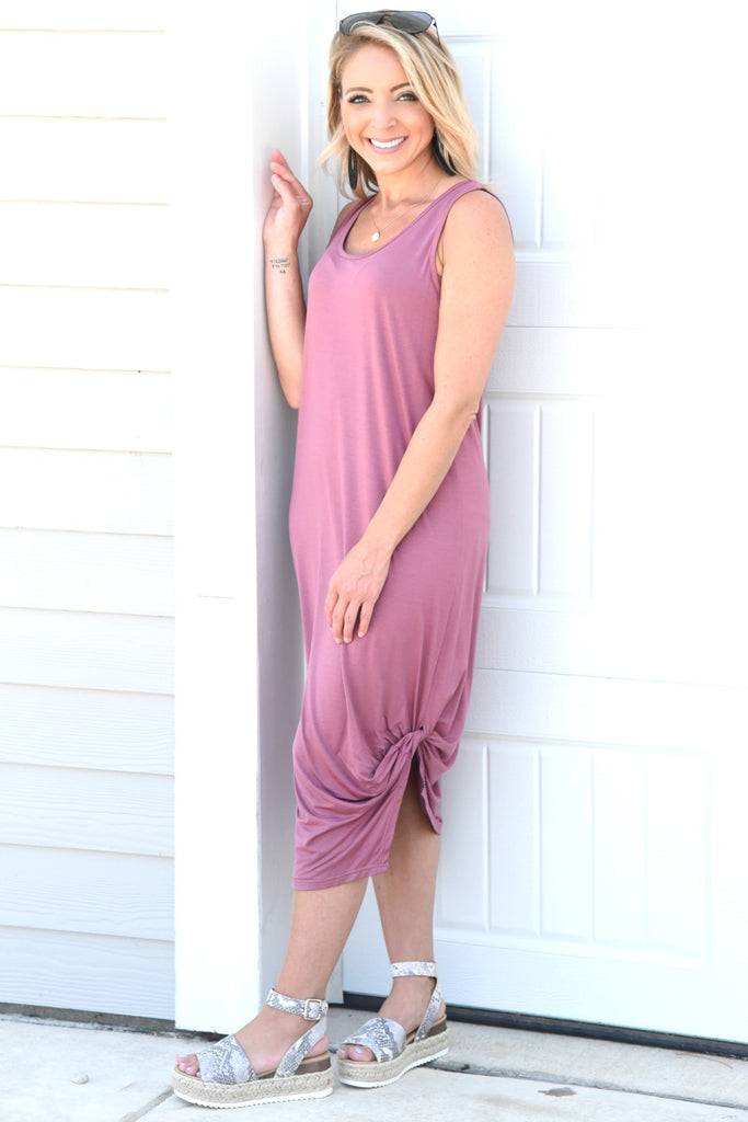 Fun With You Dress - Dark Mauve