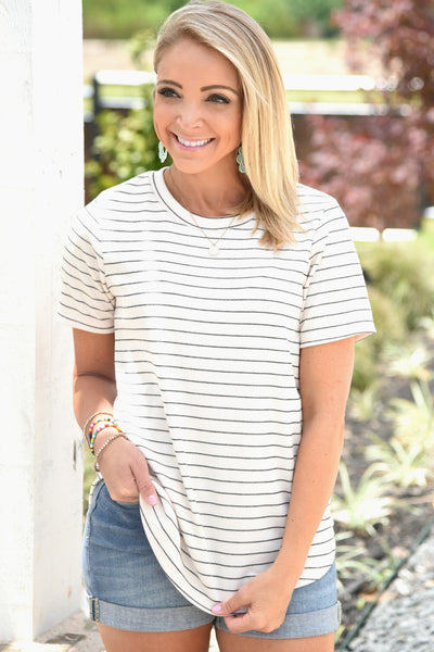 Never Look Back Striped Top