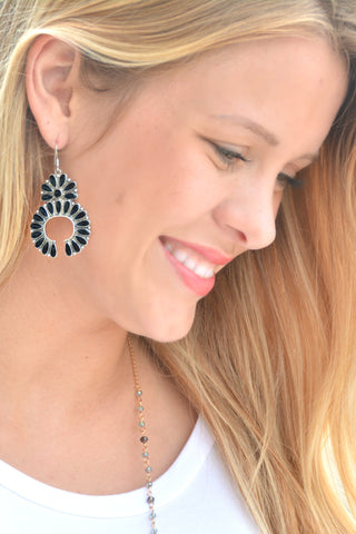 The Laredo Earrings - Black
