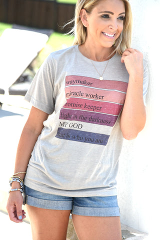 Way Maker Color Block Tee