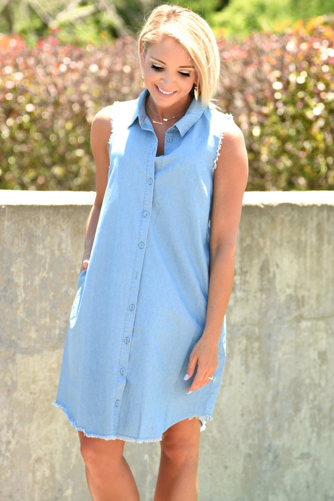 Oh Happy Day Chambray Dress