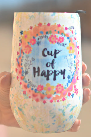 Natural Life Wine Tumbler - Cup Of Happy