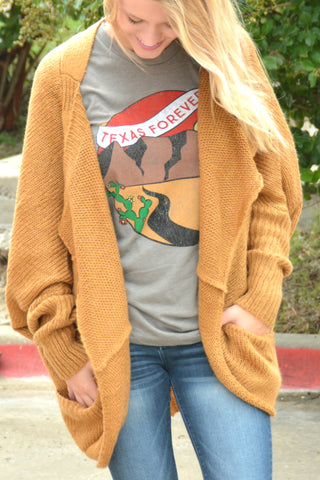 When I'm With You Cardigan - Dark Mustard