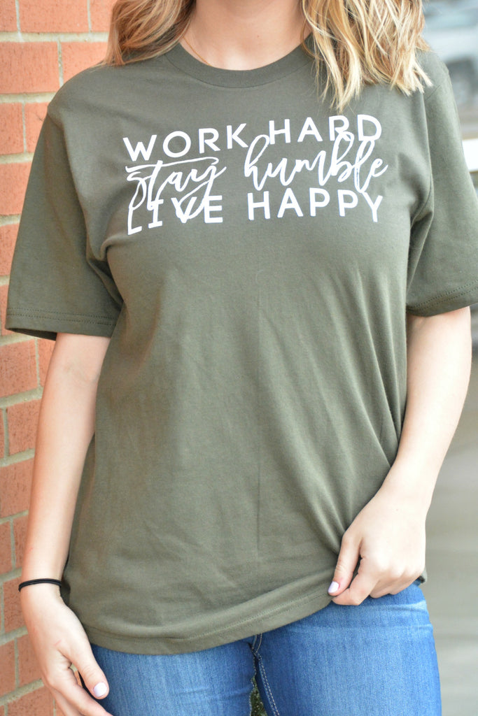 Stay Humble Tee - Army Green
