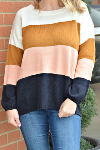 Keep It Moving Stripe Sweater