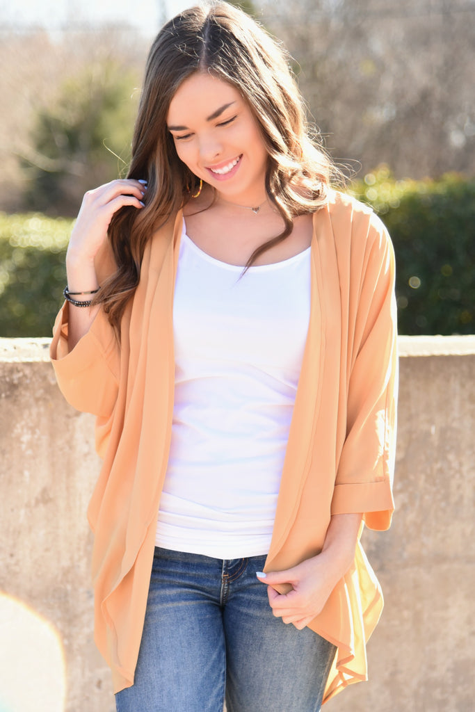 Go With your Heart Kimono - Mustard