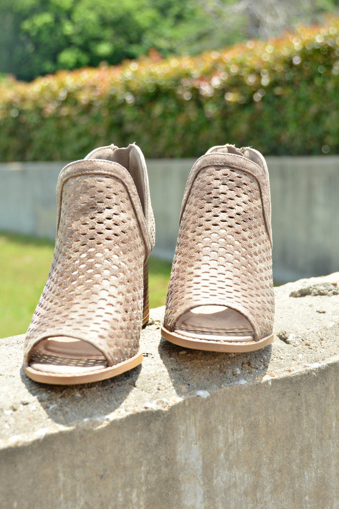 Never Let Go Bootie - Taupe