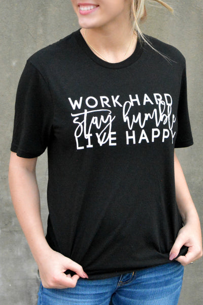 Stay Humble Tee - Black