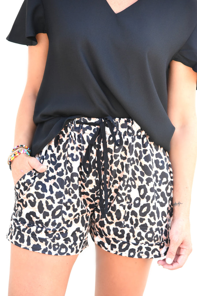 Count Me In Shorts - Leopard