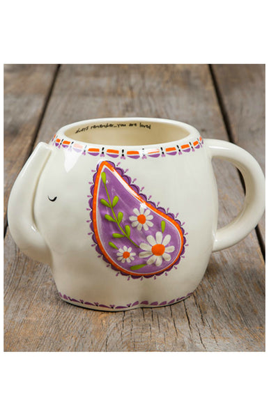 Natural Life Folk Mug - Elephant