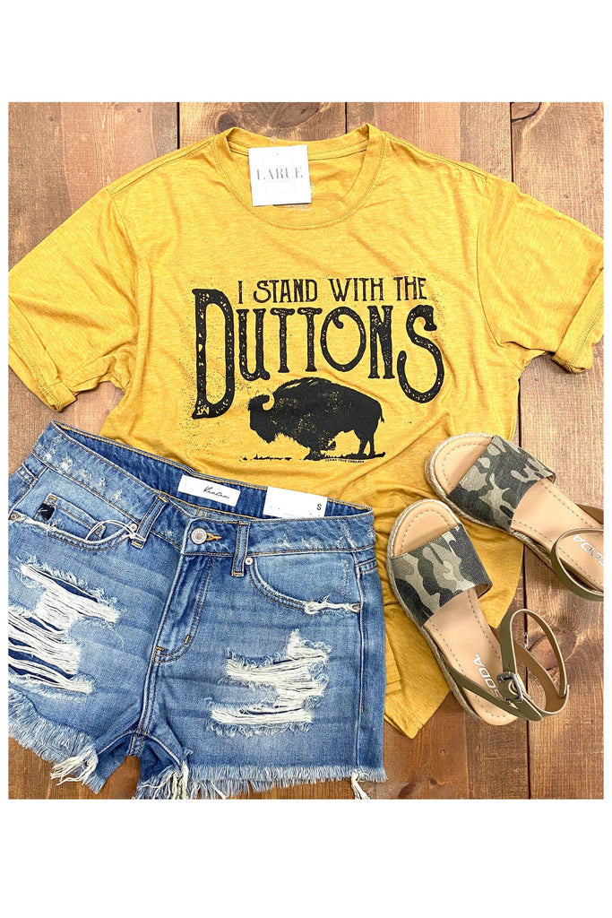 Stand With The Duttons Tee - Mustard