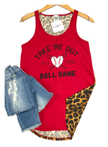 Out To The Ballgame Tank - Red