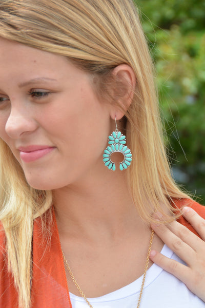 The Laredo Earrings - Turquoise