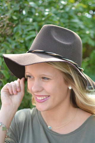 Uptown Bound Panama Hat - Brown