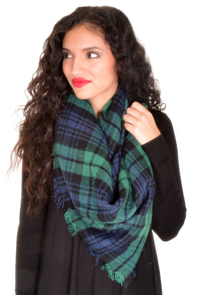 Stay For A While Scarf - Green/Blue