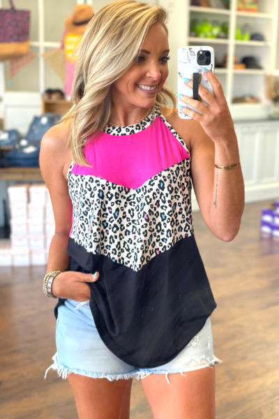 Sweet and Sassy Tank - Multi Leopard