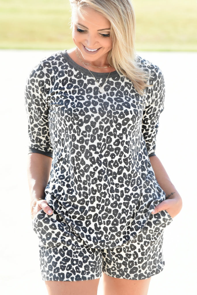 Slip Away Top - Cheetah