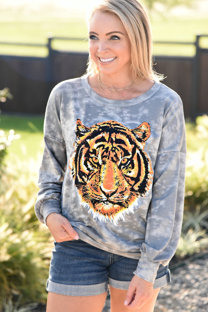 Easy Tiger Sweatshirt - Tie Dye