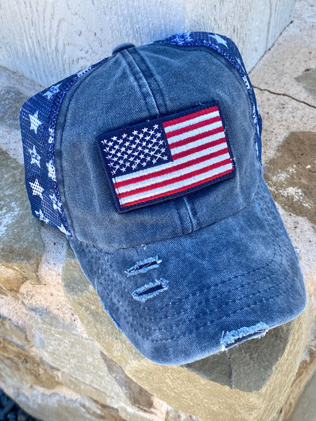 Flag Star Cap - Navy