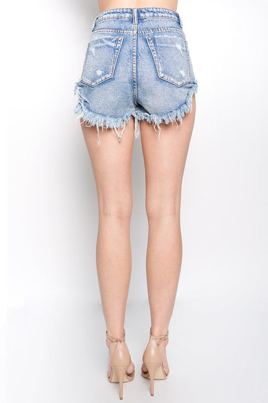 Denim Rolled Cut Offs