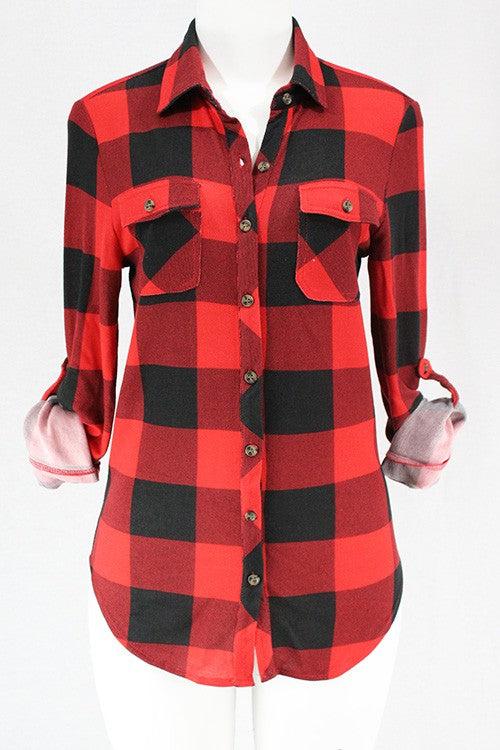 Campfire Buffalo Plaid Button up