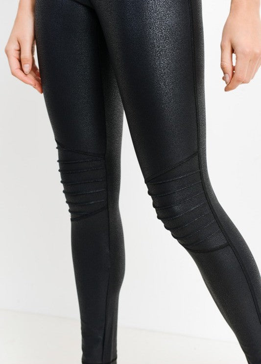 Ribbed Knee Active Legging