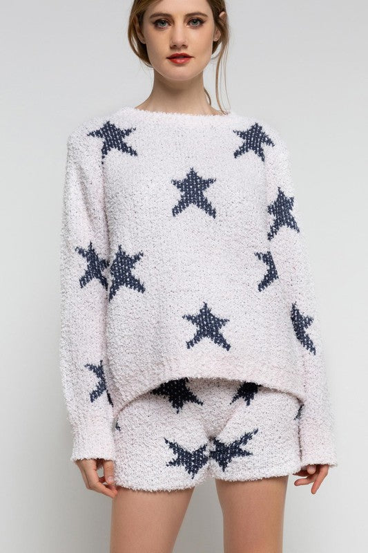 Blush Star Spangled Cozy Sweater