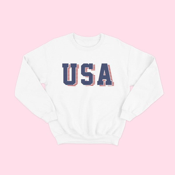 White USA Sweatshirt
