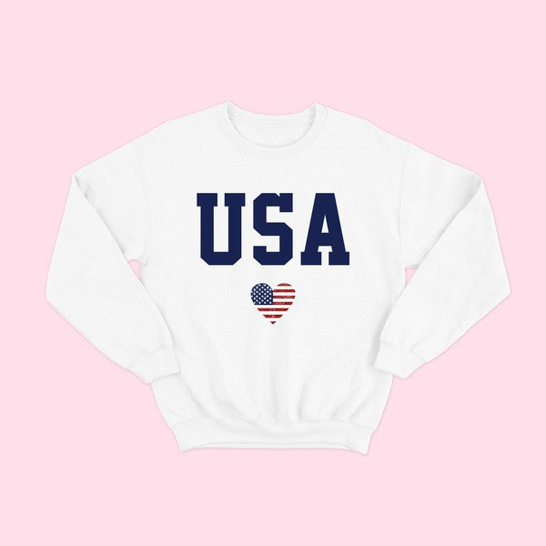 USA Heart Sweatshirt