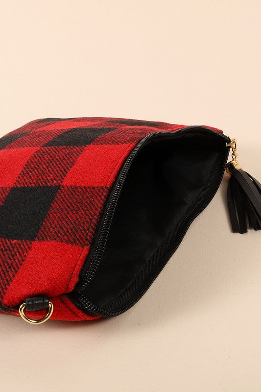 buffalo-checkered-crossbody-clutch
