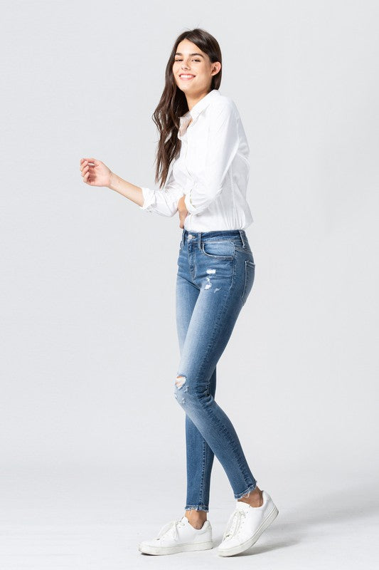 Easy Does it Distressed Skinny Denim