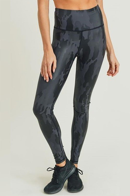 Black Camo Active Legging