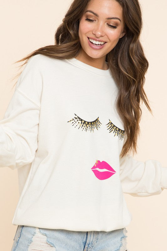 Starry Eyes Kiss Sweatshirt