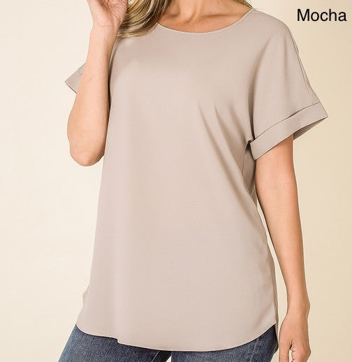 Modern Crew Neck Top (10 Colors)