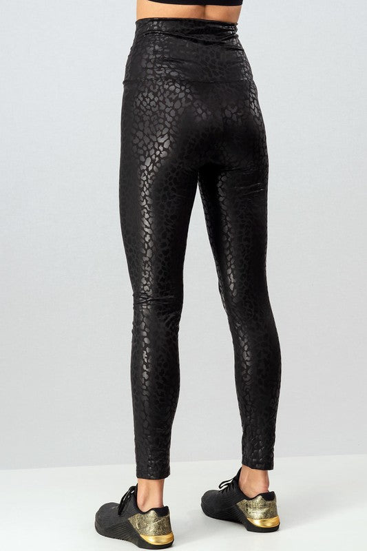 Leopard Foil Leggings
