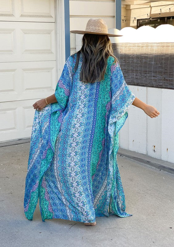 Take Me to Coachella Paisley Maxi Kimono -Love Stitch (2 Colors)
