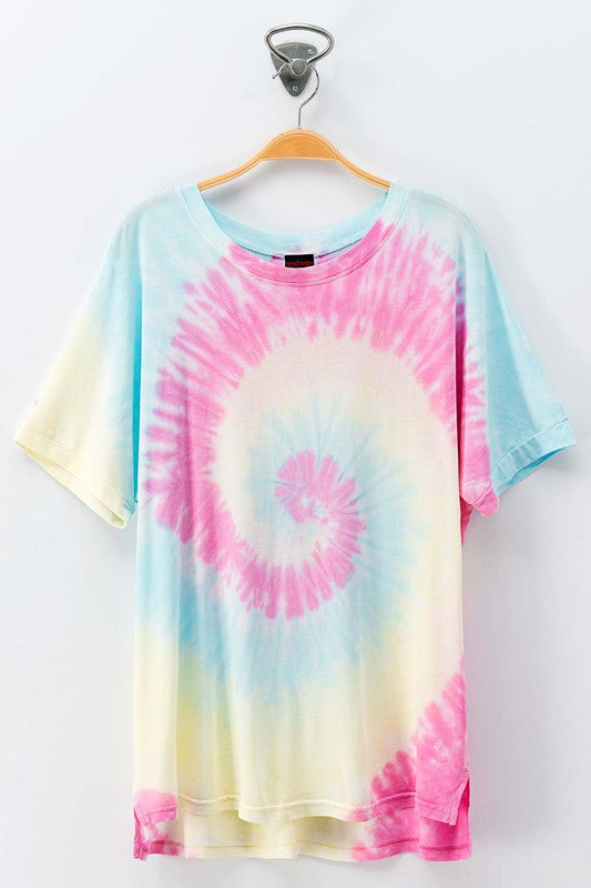 Cotton Candy Swirl Tie Dye Tee (2 Colors)