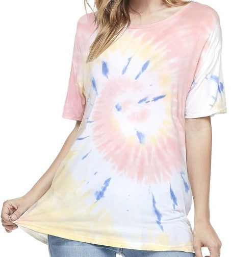 Faded Taffy Spiral Tie Dye Tee
