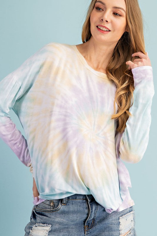 Skylight Long Sleeve Tie Dye Tee