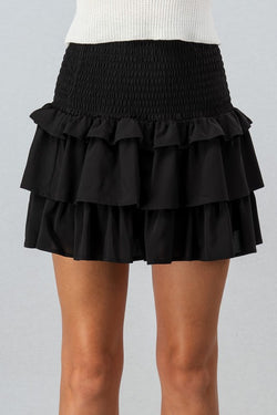 Tiered Ruffle Skirt (2 Colors)