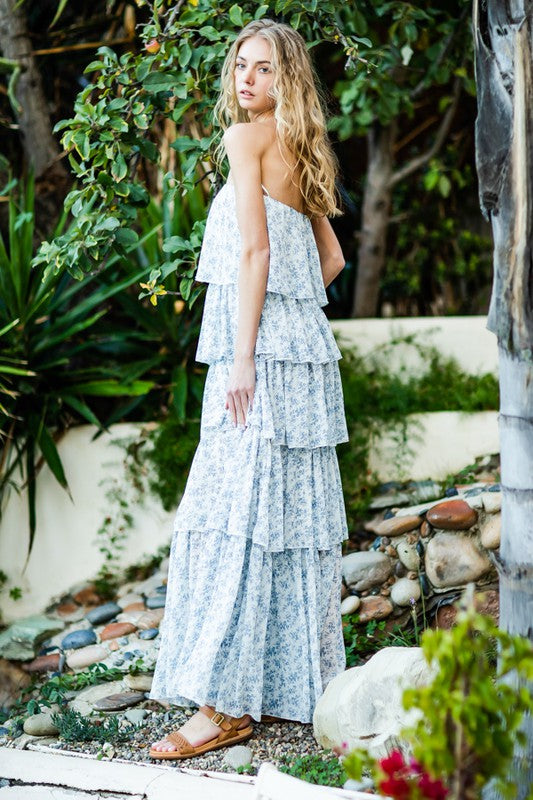 Dreaming in Florals Tiered Maxi Dress