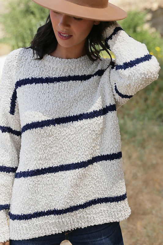Popcorn Stripe Sweater