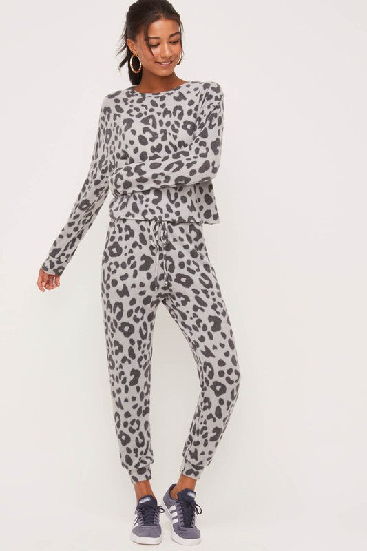 Brushed Leopard Pullover